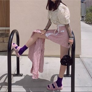 Pink Chanel Style Outfit(skirt+blazers)